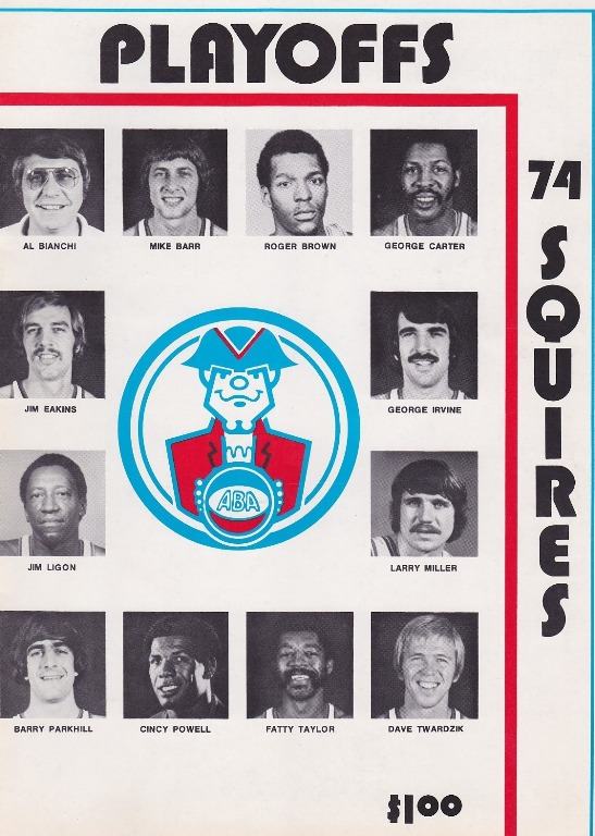 Cover of Virginia Squires program from the 1972-73 season.