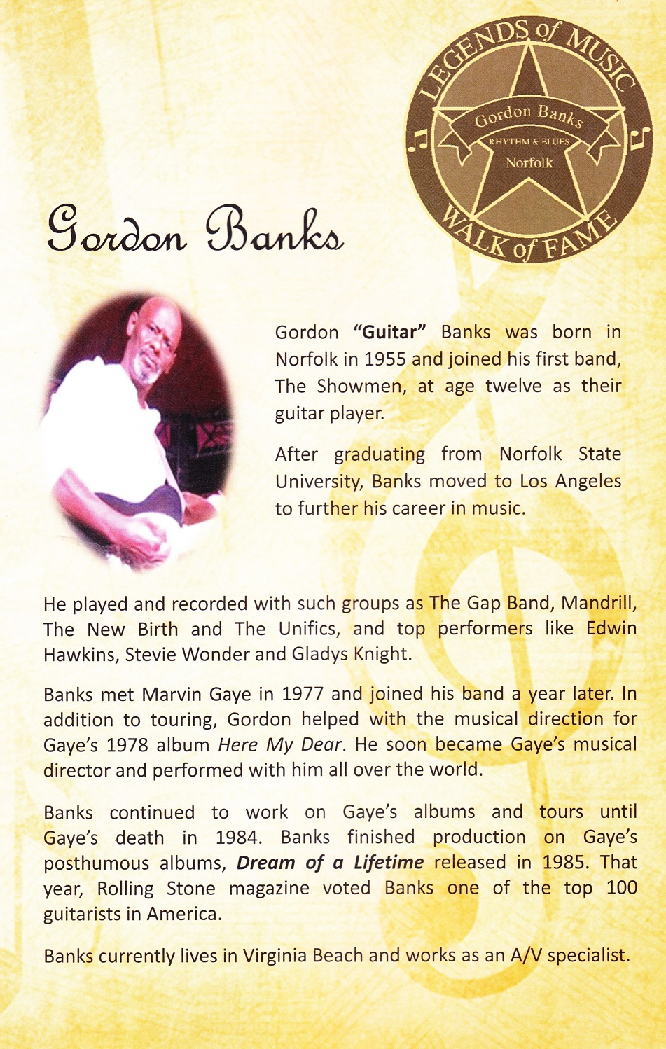 Gordon Banks program - W