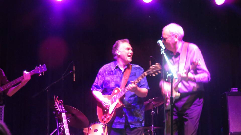 Belmont and Schwarz performing during the Graham Parker and The Rumour Reunion Tour.